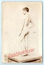 Shirtless OLD PHOTO UNKNOWN MUSCLE POSING NUDE MALE MAN MODEL GAY SIZE 4.5*7''