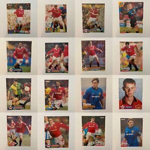 Manchester United Vintage Player Poster Bundle x 16, 1990s, A4.