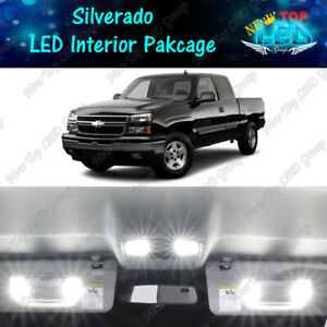 White LED Interior Lights Package kit for 1999 - 2006 Chevy Silverado 1500 2500