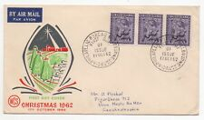 1962 AUSTRALIA First Day Cover CHRISTMAS SG345 Melbourne to Czechoslovakia BLOCK
