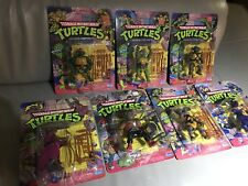 (7 lot ) Original TMNT Ninja Turtles 10 Back/44 Back Lot AFA Shredder Bebop MOC