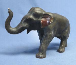 Rare Japanese Bronze Elephant Sculpture Statue Meiji Period 1868 - 1912 Signed!