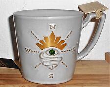 Starbucks Coffee 2014 Siren Collection Gold Crown with Jewel Eye Compass Mug NEW