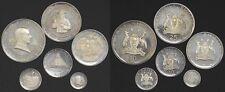 5, 10, 20, 25, 30 chelines, plata fina 1969 uganda visita papa Pauls vi pp