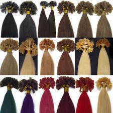 50cm Keratin Bonding Hair Extensions Remy Echthaar 100 Strähnen Haarverlängerung