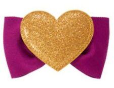 NWT Gymboree BUNDLED & BRIGHT Gold Heart & Purple Bow Hair Clip 💜💛💜