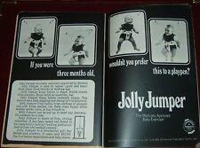 1969 JOLLY JUMPER PRINT AD~BABY EXERCISER~CHILDREN'S TOY~TORONTO,ONTARIO,CANADA