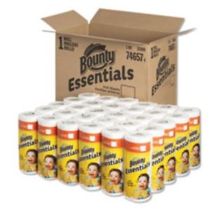 Bounty Essentials Full Sheet Paper Towels, 2-Ply, 40/Sheets, 30 Rolls (PGC74657)