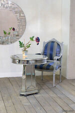 DUSX Antique Silver Mirrored Vintage Venetian Dining Table seats 4