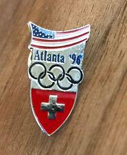 Switzerland Atlanta 1996 National Olympic Committee (NOC) Pin