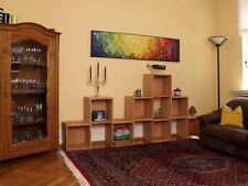 Geräumiges Wohnzimmerregal Regalwand Raumteiler Regalwürfel, Buche massiv, geölt