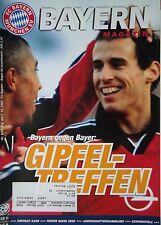 Programm 2000/01 FC Bayern München - Bayer Leverkusen