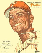 1964 JOHNNY CALLISON PHILLIES EVENING & SUNDAY BULLETIN ALBUM REPRODUCTION PRINT