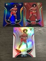 2019-20 Panini Certified Chicago Bulls Coby White Red Blue Mirror Rookie Lot (3)