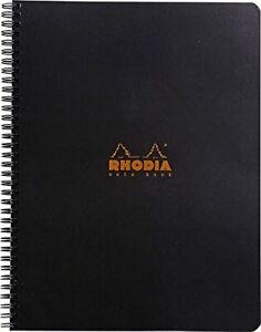 Rhodia Wirebound Notebook 8 1/4 x 11 3/4 Lined with Margin Black