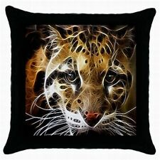 NEW SET OF 2 LEOPARD PRINT CUSHION PILLOW CASE COVERS