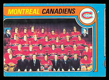 1979 80 OPC O PEE CHEE #252 MONTREAL CANADIENS TEAM UNMARKED WITH KEN DRYDEN