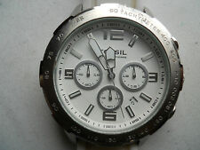 Fossil chronograph mens silicon rubber band watch.Ch-2530.Date,Analog& battery
