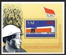 Germany / DDR - 1976 Socialist party congress Mi. Bl. 45 MNH