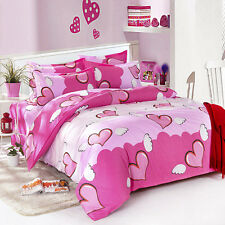 Heart Angel Girl Double Queen King Nice Bed Set 2 Pillowcase Duvet/Quilt Cover