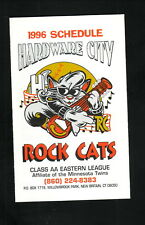 Hardware City Rock Cats--1996 Pocket Schedule--Twins Affiliate