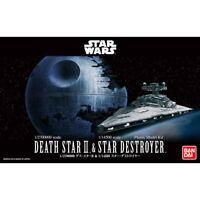 BANDAI Star Wars 1/2700000 DEATH STAR II & 1/14500 STAR DESTROYER Model Kit NEW