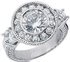 1 carat Semi-mount Round Diamond Engagement Wedding 14k Gold Ring