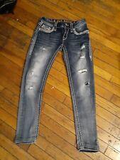 Rock Revival LUIZA SKINNY Stretch thick stitch distressed jeans Jeans sz 26 x 27