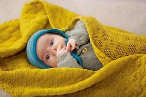 Disana Babydecke Wolldecke Decke 100% Wolle viele tolle Farben Größe 80x100 cm