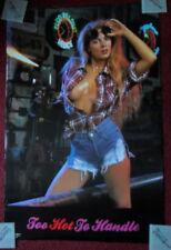 Sexy Girl Dorm Poster ~ TOO HOT TO HANDLE Welder with Denim Hot Pants