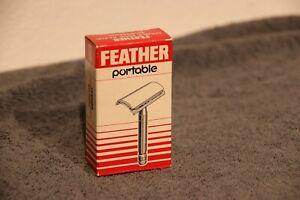 Razor / Rasierer Feather Portable Hardcase + Box N.O.S,