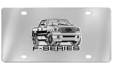 Ford F-Series Chrome Plated Stainless Steel Decorative Vanity License Plate OEM
