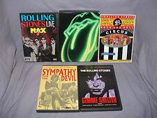 Rolling Stones 5 DVD LOT Gimme Shelter, Sympathy for the Devil, 4 Flicks, & More