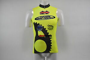 Verge V Gear Yucaipa Bike Women's S/L Cycling Jersey, Neon Yellow, L, Brand New