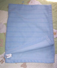 Parent's Choice Blue Fleece Ribbed Striped Baby Boy Blanket Vguc