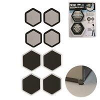 Patin De Déplacement De Meuble Protection Hexagonal X8 Noir/Blanc