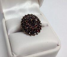 Ladies Ring Bohemian Garnets Cluster (J230)
