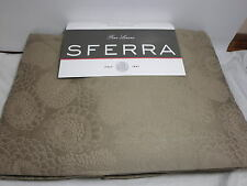 New Linea Casa by Sferra DAHLIA Floral Queen Coverlet and Shams Set ~ Taupe $857