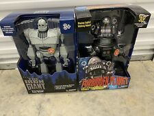 Iron Giant & Robby the Robot Walking Talking light up figures, New,
