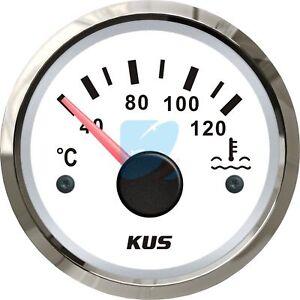 KUS Marine Engine Water Temperature Gauge Boat Temp Meter Car/RV White 40-120 ºC