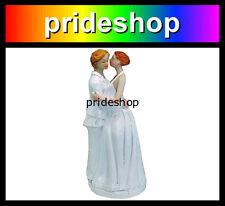 Lesbian Kissing Marriage Wedding Same Sex Female Cake Topper Decoration #520