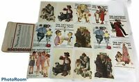 Lot 14 1972 Norman Rockwell Saturday Evening Post 5x7 Reproduction Lithographs