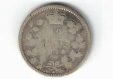 CANADA 1874H TEN CENTS DIME QUEEN VICTORIA STERLING SILVER COIN