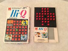 1970's Hi-Q Solitaire Family Puzzle Game by Kohner~Ages 8 & Up~1 Piece Missing