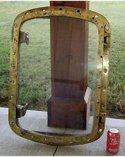 Authentic Large Rectangle Brass Porthole