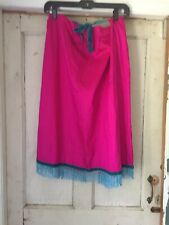 Vintage Francesca 100% Silk Skirt, Beaded Hem