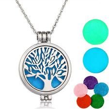 Europe Tree Life Diffuser Locket Pendant Aromatherapy Perfume Pendant Necklace