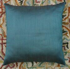 "Ethnic 16"" Teal Striped Dupioni Silk Glitter Pillow Cushion Cover Sofa Throw"