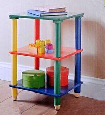 New Multicolour Children Kids Pencil 3 Tier Shelves Solid Wood Free Standing