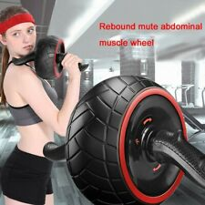 Abs Abdominal Roller Gym Exercise Wheel Mute Ab Fitness Core Stength Training Us